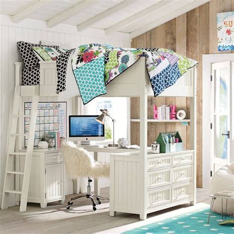 loft bed for teens ahhhh pb teen loft bed bedroom pinterest