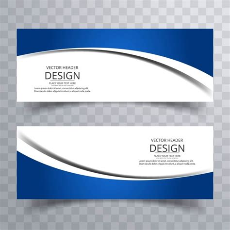 modern blue wavy banners vector