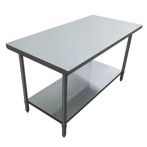 Kitchen Utility Table by Excalibur Stainless Steel Kitchen Utility Table