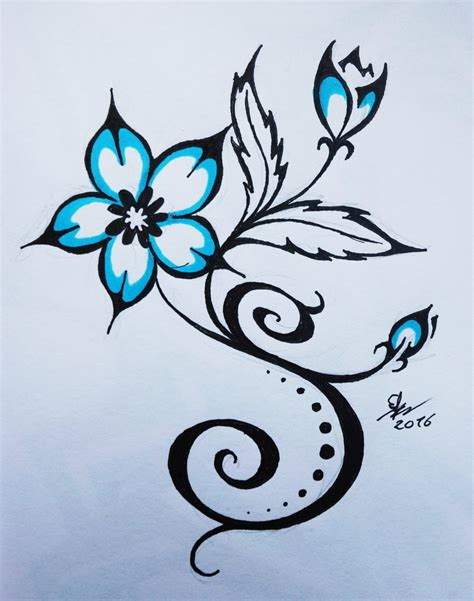 flower tribal tattoo designs tribal flower designs pictures to pin on pinsdaddy