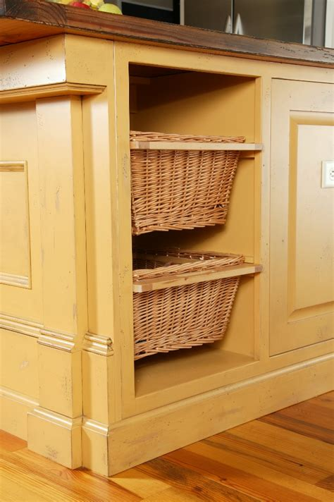 Baskets For Kitchen Cabinets Woven Baskets In Kitchen Cabinets Custom Wooden Cabinets