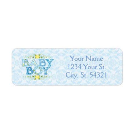 Baby Shower Address Label Template Baby Boy Return Address Labels Templates Zazzle