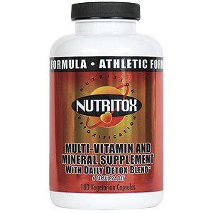 Best Vitamins And Minerals For Detox From Opiates by Nutritox Athletic Multi Vitamin Mineral
