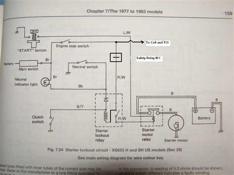 1981 yamaha xs650 wiring diagram efcaviation