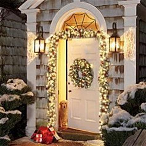 elegant lighted garland doorway garlands outdoor decor lighted pre lit garland