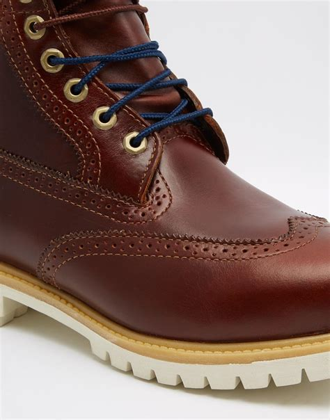timberland icon 6 inch leather premium brogue boots in