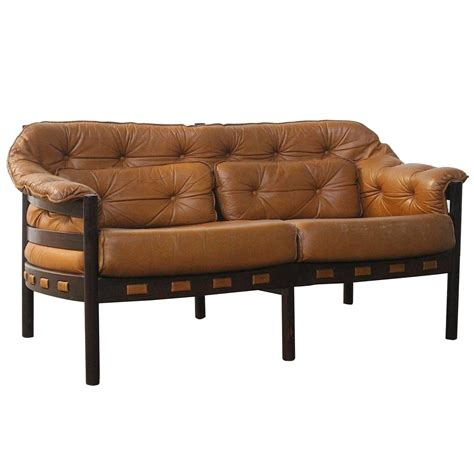 camel leather reclining sofa arne norell two seat settee sofa in camel leather for sale