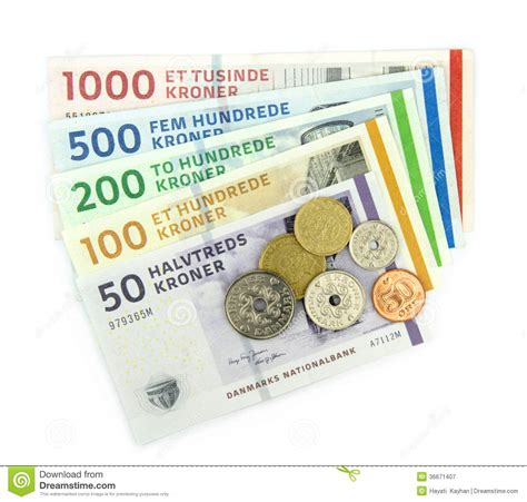 currency dkk kroner dkk royalty free stock photography
