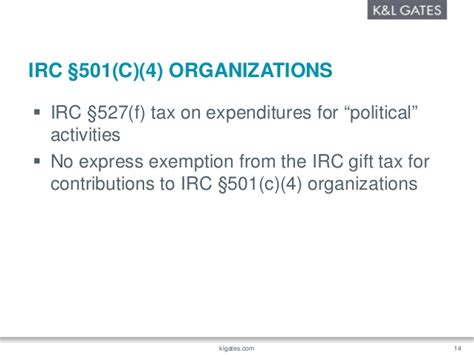 irc section 501 a political and lobbying activities of 501 c 3 501 c 4