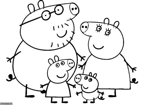 coloring page of peppa pig free coloring pages of peppa pig