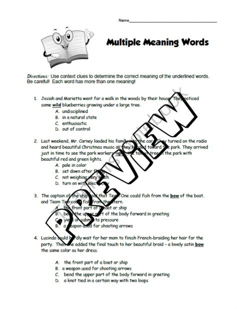 grep pattern multiple words multiple meaning words worksheet product from rosies