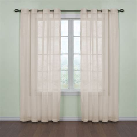 curtains sheers and panels curtain fresh sheer grommet curtains white view all