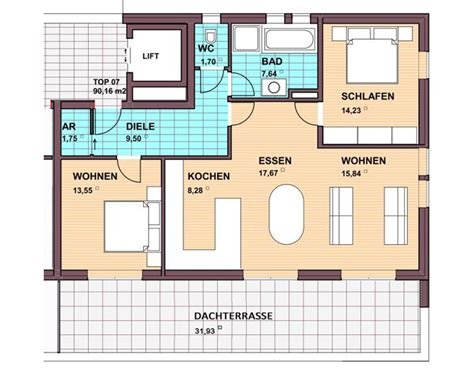 90m2 wohnung penthouse wohnung top 07 90 m2 wohnanlage europastra 223 e