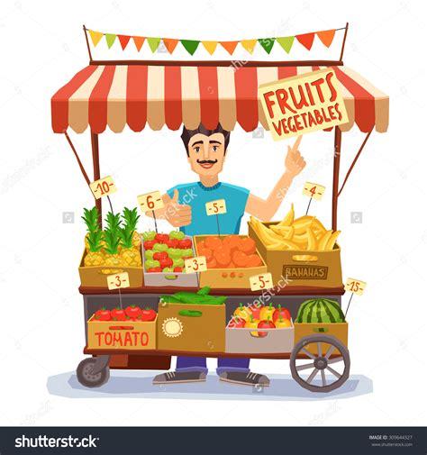 venditore ambulante alimentare seller clipart 81