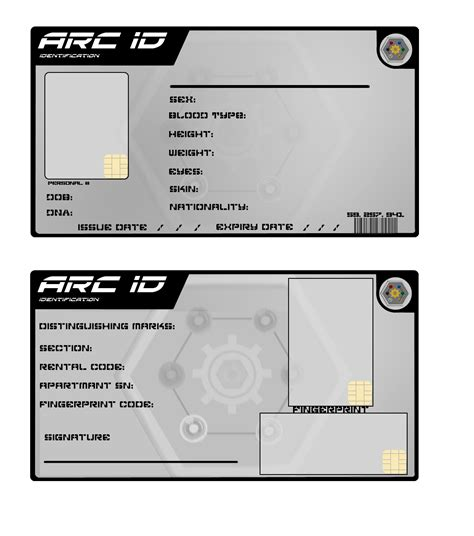 id card template psd deviantart arc id card blank by milosh andrich on deviantart