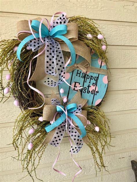 easter wreath spring wreath easter door wreath easter