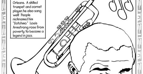louis armstrong coloring pages google search icon