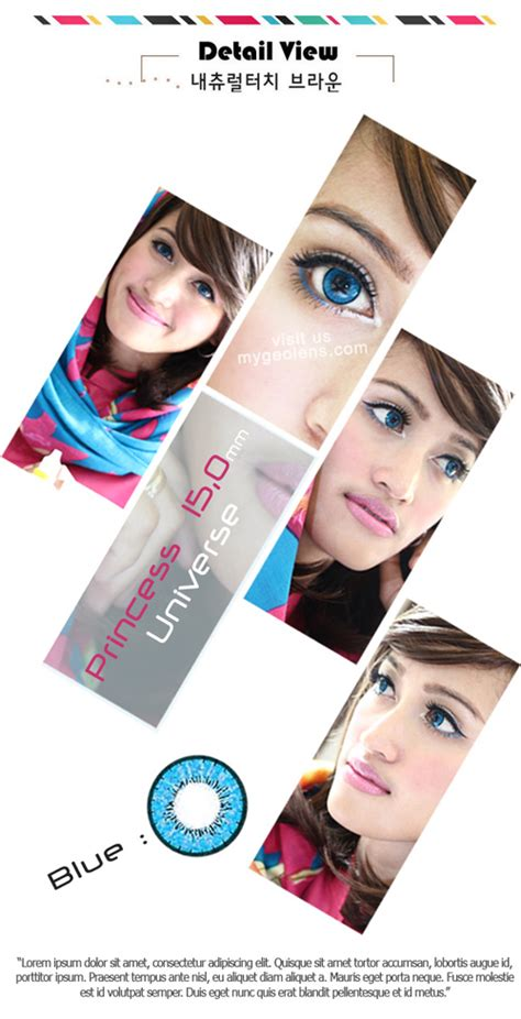 Princess Universe Blue 15mm Softlens 1estin princess universe blue softlens mygeolens dropship softlens