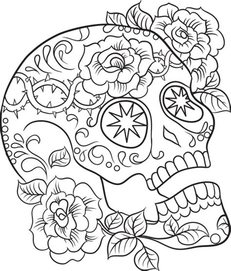 skull and roses coloring pages for adults coloring pages