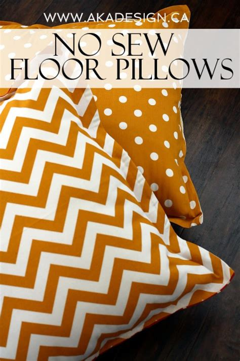 No Sew Floor Pillow by No Sew Floor Pillows