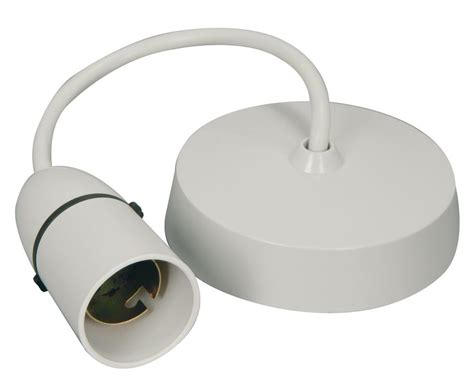 Ceiling Light Holder by White Pendant Ceiling L Holder Ebay