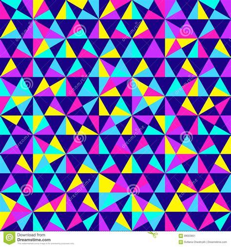 geometric neon pattern abstract geometric pattern neon colors cartoon vector