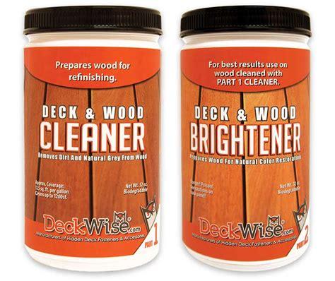 wood deck cleaner brightener  oiling deckwise