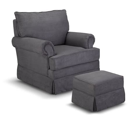 upholstered glider and ottoman thomasville grand royale upholstered swivel glider and ottoman gray