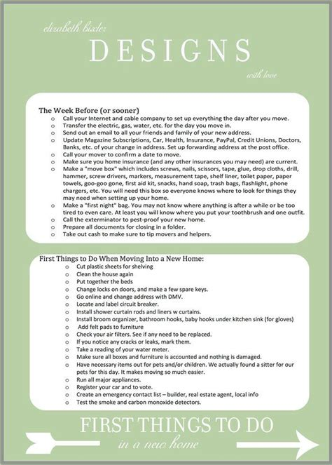 things to buy for a new house checklist 25 best ideas about new home checklist on new
