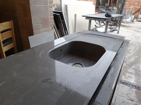 Silestone Kitchen Sinks Silestone Integrity Sink With Recess Drainer