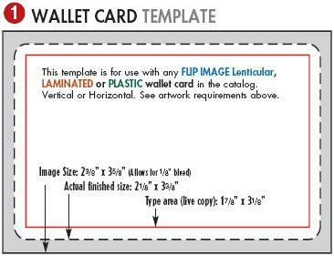 Template For Ordianation Wallet Cards by Lenticular Printing Templates