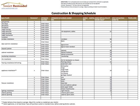 construction material list template construction material list template 28 images