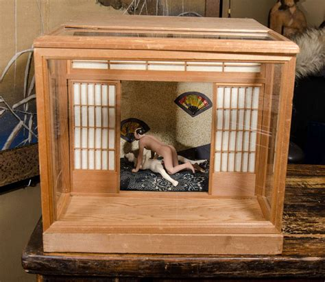 A Japanese  or Shunga Ningyo Light Box from the Meiji Period at 1stdibs