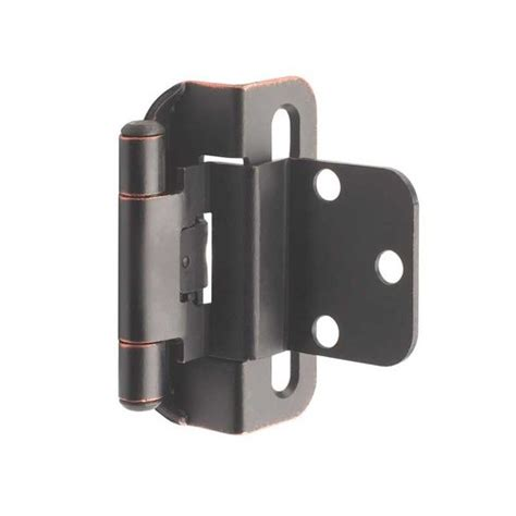 3 8 overlay partial wrap cabinet hinges amerock partial wrap 3 8 quot inset hinge rubbed bronze