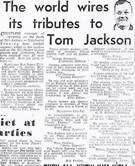 tom jackson manchester evening news tom jackson manchester united s lifelong friend the