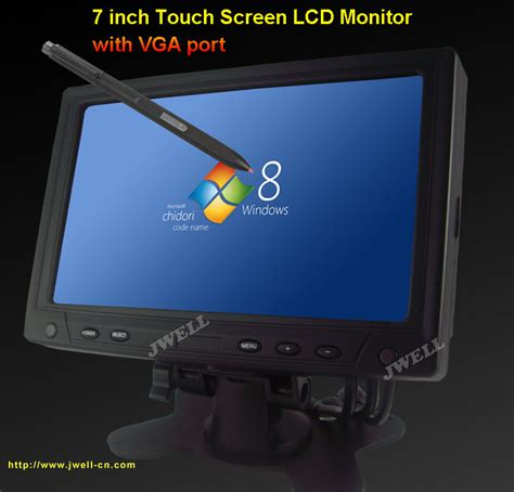 Monitor 7 Inch 7 inch touch screen lcd monitor with vga port j well industrial co ltd
