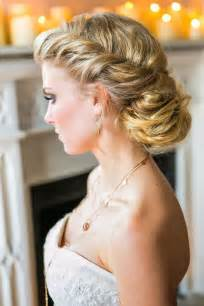 Messy classic updo wedding hairstyle for long hair