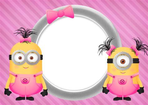 imagenes de minions rosa convite ou cart 227 o minions para meninas 2 fazendo a nossa