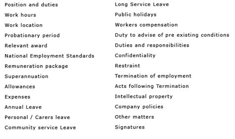 permanent contract of employment template gallery