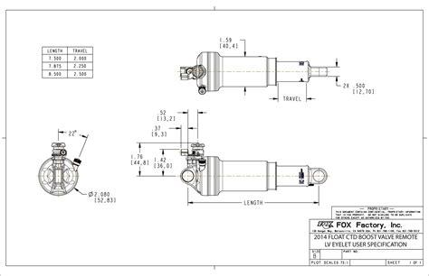 Float Ctd Boost Valve Rebuild Bike Help Center Fox | 2014 2015 float ctd remote user specification drawings