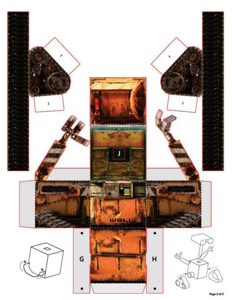paper craft wall wall e zum selberbasteln dravens tales from the crypt