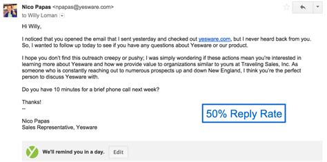 email reply template 4 sales follow up email sles with templates ready to go