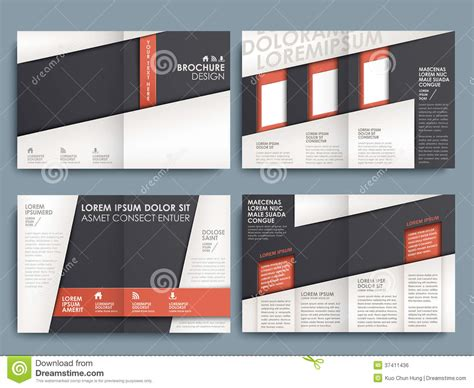 vector brochure layout design template stock vector