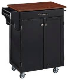 cherry kitchen island cart cuisine cart black finish with cherry top transitional