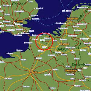 map of showing ypres rail maps and stations from european rail guide