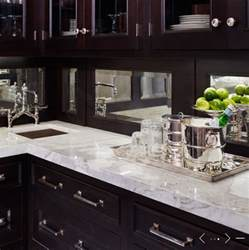 mirror backsplash traditional kitchen de giulio