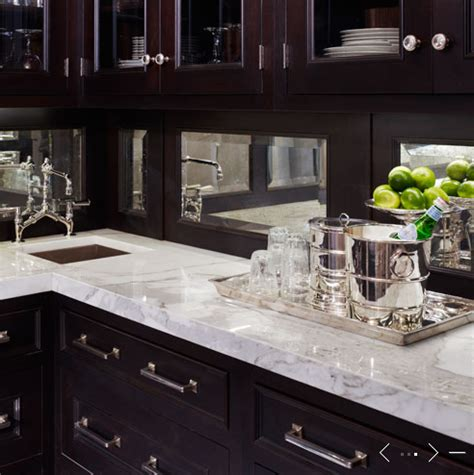 Mirrored Kitchen Backsplash Butler Pantry With Mirrored Backsplash Design Ideas