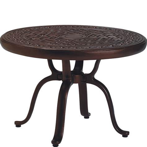 tropitone 820683 cast aluminum tables 25 inch round cast