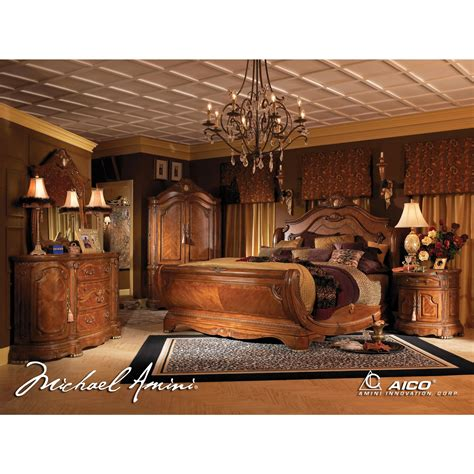 california king size bedroom set aico 5pc cortina california king size bedroom set in honey walnut finish for 9 053 00