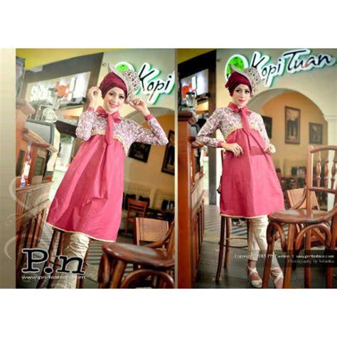 Gamis Pesta Pn0832 By Pn Fashion pn 0617 merah bata baju muslim gamis modern